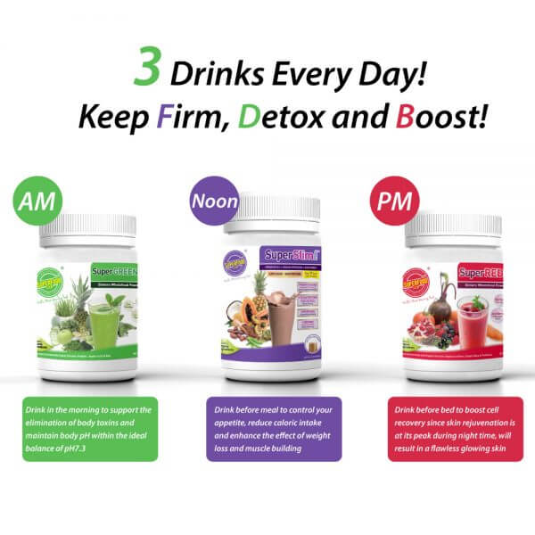 10 Days All-In-One Sachet Set: Keep Firm, Detox & Boost